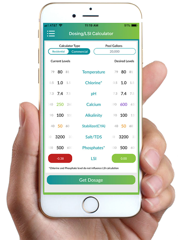 orenda app, LSI calculator, pool LSI, LSI balance, calcium hardness, hard water