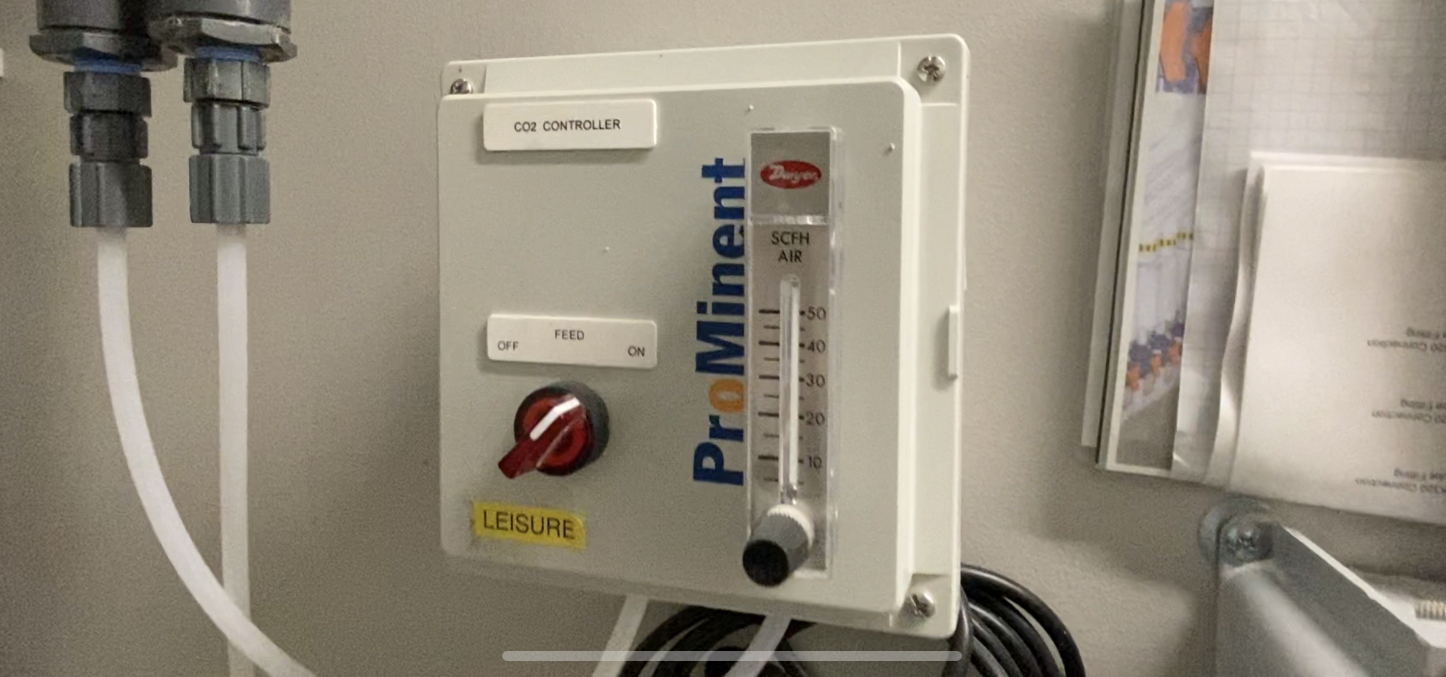 CO2 injection controller, prominent, commercial pool, CO2