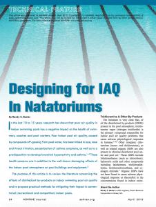 designing for IAQ in natatoriums