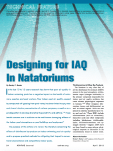 designing for IAQ in natatoriums