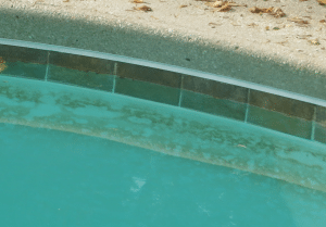 spot etching, calcium hydroxide, pool