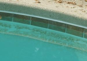 spot etching, calcium hydroxide, pool