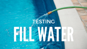 test fill water, tap water, tap water chemistry, pool chemistry, orenda pool, orenda chemicals