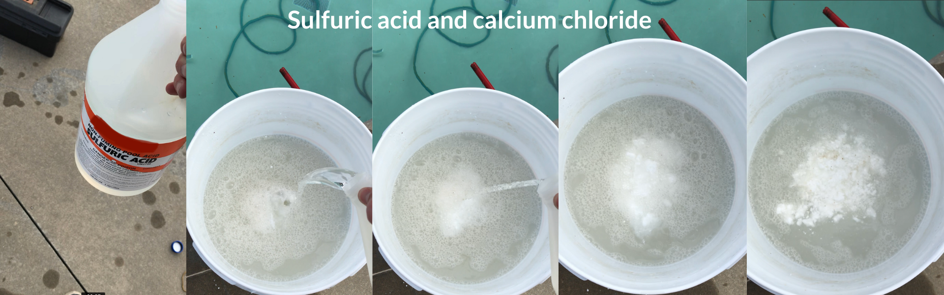 Sulfuric acid and calcium chloride