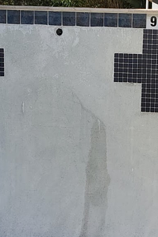 concrete pool weeper and calcium nodules