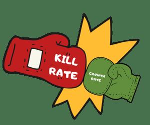 kill vs. grow, kill rate, growth rate, sanitization, phosphates, orenda