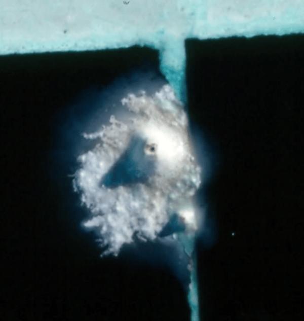 nodule on tile grout (onBalance video)