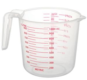 taza medidora de plástico