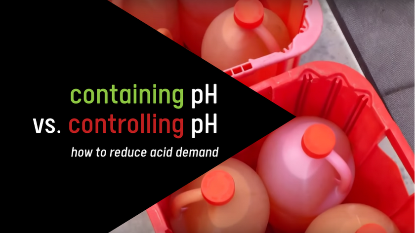 pH in a pool, pH control, contain pH, how to reduce acid demand, acid demand, LSI and pH, pH and alkalinity