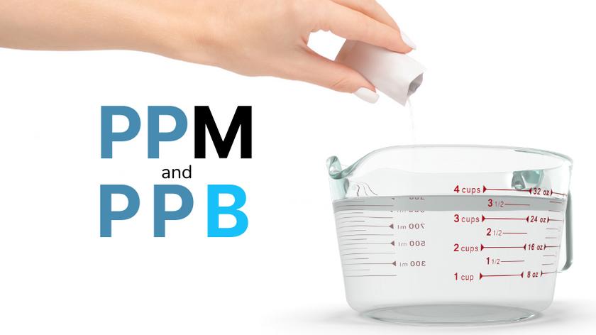 ppm to ppb, ppm definition, parts per million, what does ppm mean, ppm and ppb, parts per billion, what does mg/L mean, what does µg/L mean, ppm to mg/L